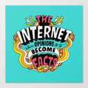 The Internet. Canvas Print