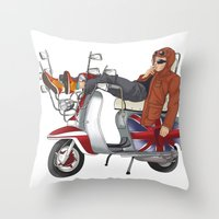 Scooter Is My Soulmate Throw Pillow