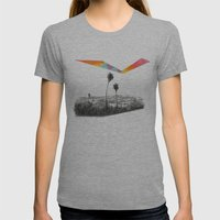 L.A. Womens Fitted Tee Athletic Grey SMALL