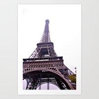 Le Tour Eiffel- Side Art Print