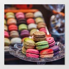 Macarons, Paris Canvas Print