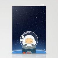 Space Ninja Stationery Cards