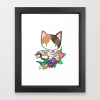 Calico Cat. SHUT UP! Framed Art Print