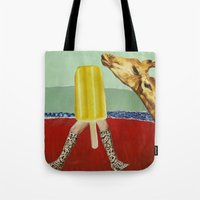 Ferdinand the Giraffe and the yellow popsicle Tote Bag