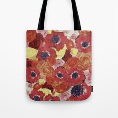 Vintage Floral Collage Tote Bag