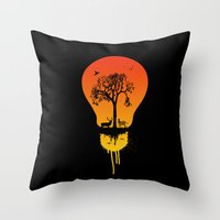 The two worlds Throw Pillow