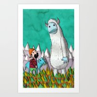 Paul Bunyan About To Get His Ass Handed To Him..... Art Print