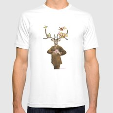 Monsieur Le Cerf SMALL White Mens Fitted Tee