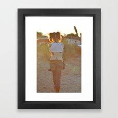 Pigtails  Framed Art Print