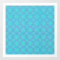 Raspberry Resonance Art Print