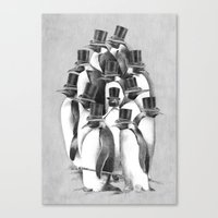 A Gathering Of Gentlemen Canvas Print
