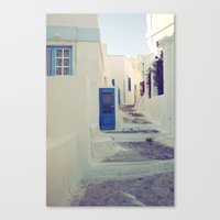 Santorini Door III Canvas Print