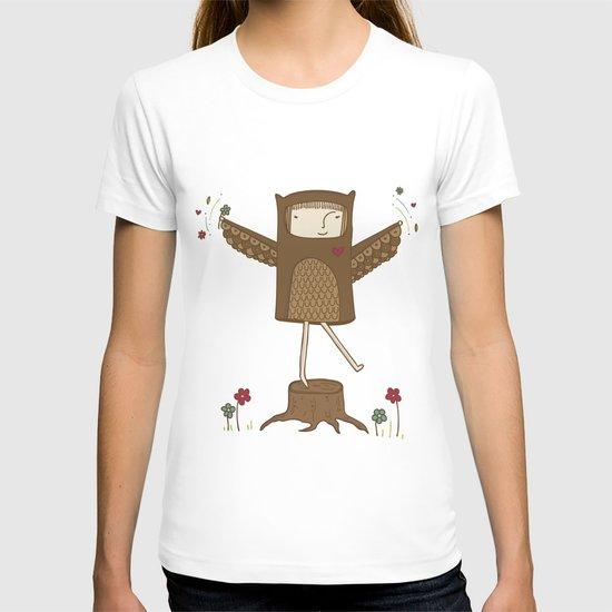 Little Owl Girl T-shirt