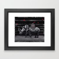 elegant rhinoceros Framed Art Print