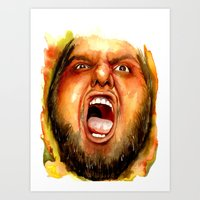 BEAR RAGE Art Print