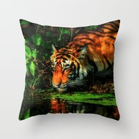 Paying Homage To The Jungle King Throw Pillow