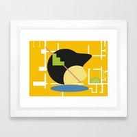 Postmodern fish 2 Framed Art Print