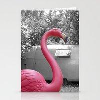 Pink Flamingo Stationery Cards