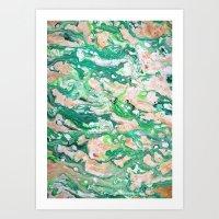 Moss Agate  Art Print