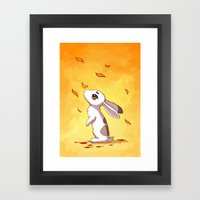 Autumn Hare Framed Art Print