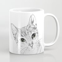 A Sketch :: Cat Eyes Mug