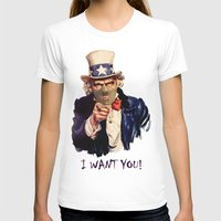 Uncle Sam Womens Fitted Tee White SMALL