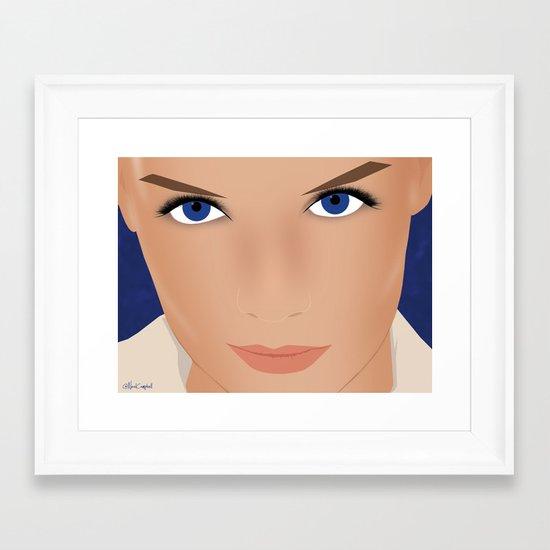 Katie Holmes Framed Art Print