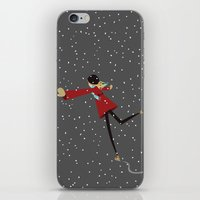 Ice Skate Girl iPhone & iPod Skin
