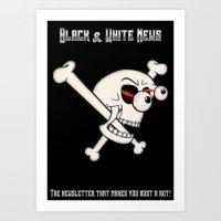 Black & White News Art Print