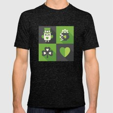 IRISH EYES ARE SMILING Mens Fitted Tee Tri-Black SMALL