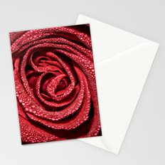 Raindrop Rose Stationery Cards