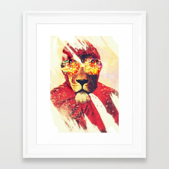 Lion Zion Framed Art Print