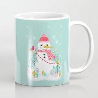 Holiday Snowman By Andre… Mug