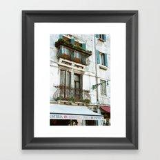 VENICE V - APARTMENT Framed Art Print