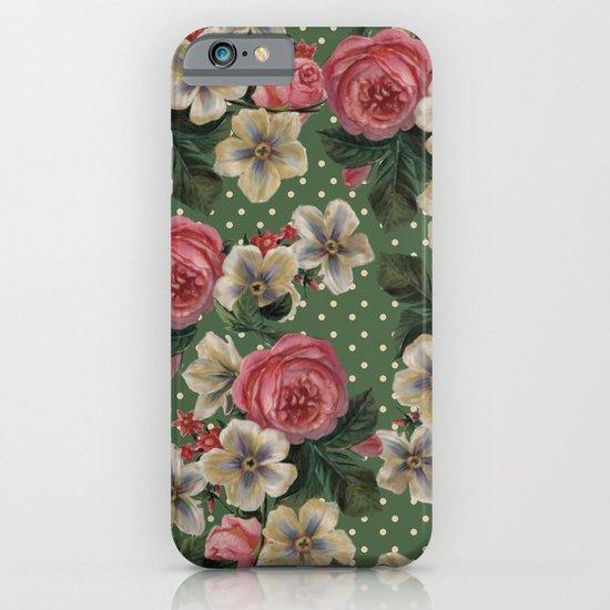 Vintage Rose Pattern iPhone & iPod Case