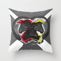 Horse War Throw Pillow