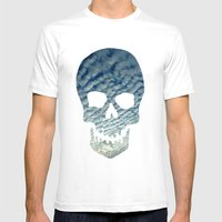 Sky Skull Mens Fitted Tee White SMALL