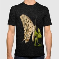 Swallowtail Butterfly Ve… Mens Fitted Tee Tri-Black SMALL