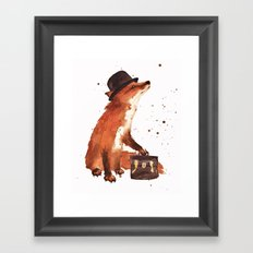 Fox In Hat, Office Decor… Framed Art Print