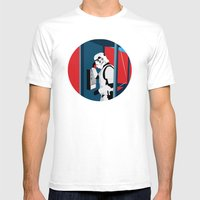 Stormtrooper Phone Home Mens Fitted Tee White SMALL