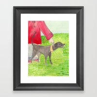 My Dog Framed Art Print