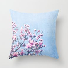 She Bloomed Everywhere She Went Throw Pillow