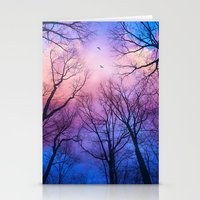 A New Day Will Dawn  (Day Tree Silhouettes) Stationery Cards