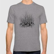 Pyramidal Neuron Forest Mens Fitted Tee Athletic Grey SMALL
