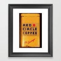 Red Circle Coffee Framed Art Print
