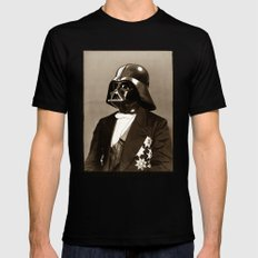 Portrait of Sir Vader Mens Fitted Tee Black SMALL