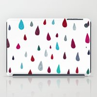 Raindrops-red iPad Case