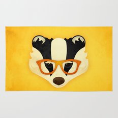 Hipster Badger: Gold Rug