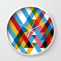 Ribbons Overlay ///www.pencilmeinstationery.com Wall Clock