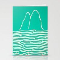 Sea Foam Waves Stationery Cards